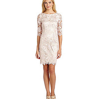 Eliza J Lace Shift Dress - Blush