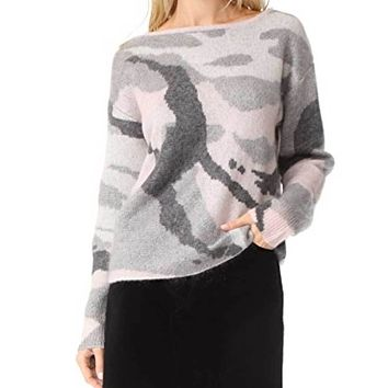 Rag & Bone Sinclair Pink Camouflage Pullover  Sweater