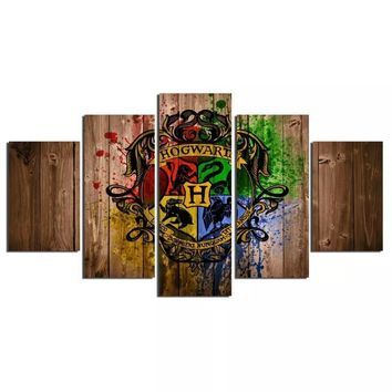 Harry Potter 5 Panel Canvas Art Wall Swag
