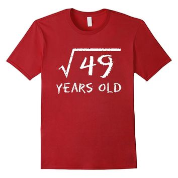 Square Root of 49: 7th Birthday 7 Years Old T-Shirt
