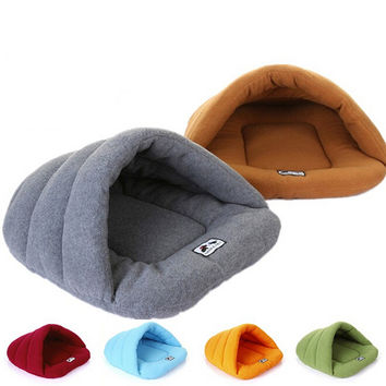 New Simple Style Warm Sleeping Bags Pet Kennel Pet Nest Dog Litters Medium and Small Animal House shipping Dog House Perros