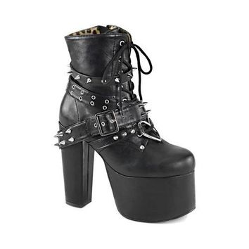 Women's Demonia Torment 700 Ankle Boot Black Vegan Leather | Overstock.com Shopping - The Best Deals on Boots