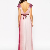 Traffic People Blessings Silk Maxi Dress in Ombre