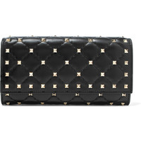 Valentino - The Rockstud Spike quilted leather wallet