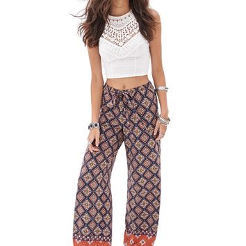Abstract Paisley Palazzo Pants