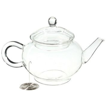 New Arrival 250ml/8.5oz Borosilicate Durable Glass Teapot Heat Resistant Bottle Cup For Blooming Tea Herbal Coffee With Infuser