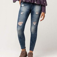 CELEBRITY PINK Destructed Ankle Womens Jeans | Skinny