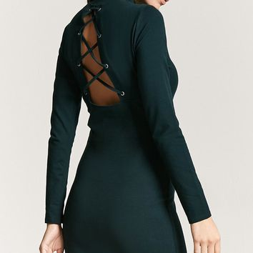Crisscross-Back Mini Dress