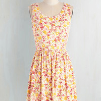 Mid-length Sleeveless A-line Brighten the Mood Dress by ModCloth