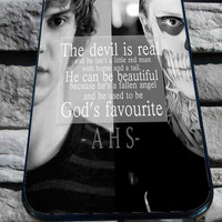 American Horror Evan Peters Story Quote for iPhone 4/4s/5/5S/5C/6, Samsung S3/S4/S5 Unique Case *95*