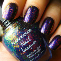 Kleancolor Chunky Holo Bluebell Nail Polish FREE SHIP