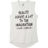 John Lennon Women's  John Lennon Reality Imagination Womens Tank White