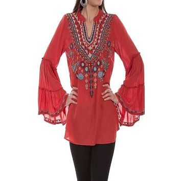 Honey Creek by Scully Embroidered Tunic~ Sunset