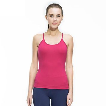 Women Fitness Gym Sports Yoga Vest Sexy Sleeveless Shirts Running Clothes with Breathable Quick Dry Spandex Tank tops