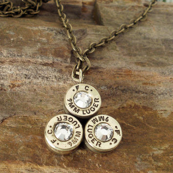 Bullet Casing Pendant Bullet Necklace by ShellsNStuff on Etsy