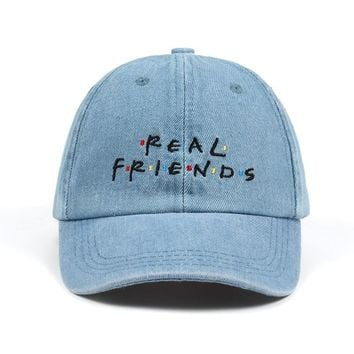 Trendy Winter Jacket Washed Denim Real Friends Hat Trending Rare Baseball Cap I Feel Like Pablo Dad Hat Snapback Cap Kanye Tumblr Hip Hop Men Women AT_92_12