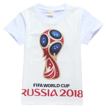 C Ronaldo 2018 Russia Boy Barcelona t shirt Children clothing Kid teens clothes Roblox summer Messi tops Neymar Football T-shirt