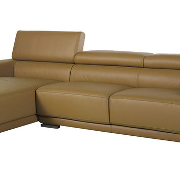 Divani Casa K8300 - Modern Camel Italian Leather Sectional