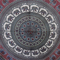 LARGE mandala indian tapestry hippie wall hanging bedspread bohemian boho bedding bed cover elephant throw ethnic home decor