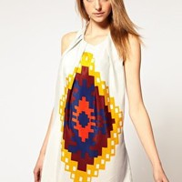 Vero Moda | Vero Moda Peruvian Print Twist Back Dress at ASOS