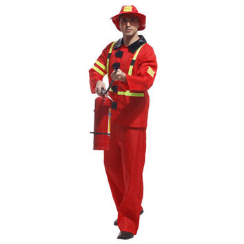 Halloween Cosplay Costume Ball Firefighter Uniform
