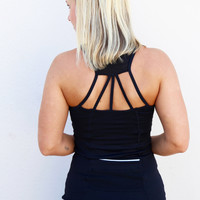 Active Wear Cutout Back Tank Top