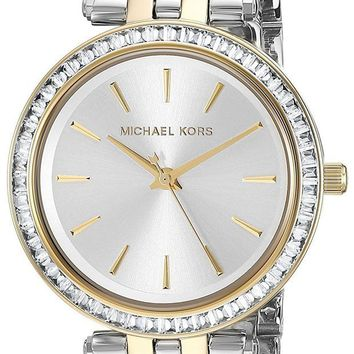 CREYWA2 Michael Kors Women's Two-Tone Stainless Steel Mini Darci Watch