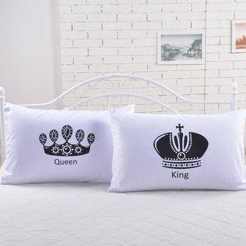 2pcs/lot royal series pillowcases 50*70cm hotel/bedding pillow Sham single white Pillow cover