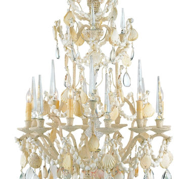 Currey Company Buttermere Chandelier, Small