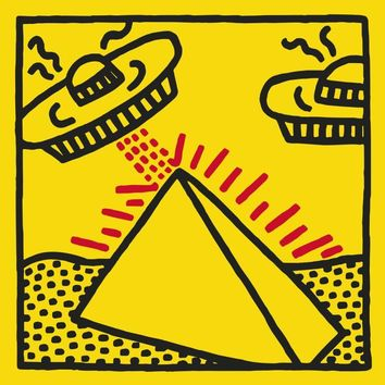 Keith Haring - Untitled 1984 (Pyramid w/UFO)