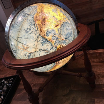1965 Replogle Light-Up Tabletop Globe