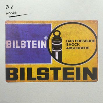 Vintage Garage decor Bilstein Shock Absorbers metal tin sign art wall plaque