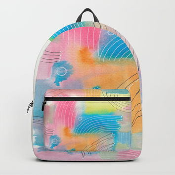 Improvisation 60 Backpacks by ViviGonzalezArt