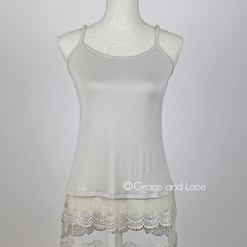Grace & Lace Scallop Lace Top Extenders™ (Stone)