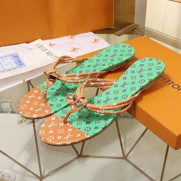 LouisVuiton LV Double buckle with logo Fashion casual sandals-7