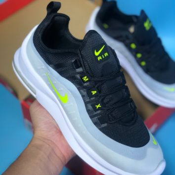 AUGUAU N356 Nike Air Max 98 AXIS Vintage Cushioned Sneakers Black Fluorescent