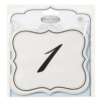 Numbers 1-25 Table Cards Wedding Reception David Tutera Scroll Edge Double Side:Amazon:Arts, Crafts & Sewing