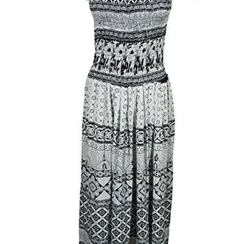 Women Boho Maxi Dress Cap Sleeve Smocked Waist Tiered Renaissance Holiday Dresses