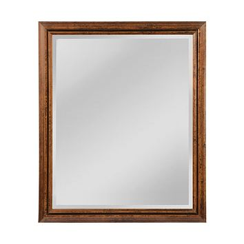 Groove Frame Beveled Wall Mirror - Large