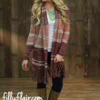 Authentic Fringe Cardigan in BLUSH - What's New