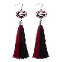 ONETOW NCAA Georgia Bulldogs Tassel Earrings