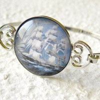 Lost At Sea Women's Bangle by kimiko611 on Etsy