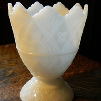 Milk Glass Vase or Planter by E.O. Brody Pattern Number 2255 -1960's Great Cottage Chic Look