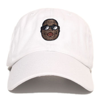 Biggie Dad Hat In White - 3 Left!