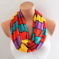 Infinity Scarf Loop Scarf Circle Scarf Cowl Scarf Multicolor Loop Infinity Circle Scarf Soft and Lightweight