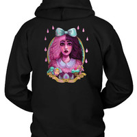 Melanie Martinez Sketch On Water Colour Canvas Art Hoodie Two Sided