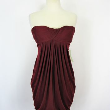 Aggie Strapless Pleated Cocktail Club Bubble Dress S NWT