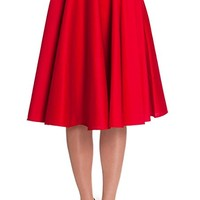 Hell Bunny Plus Retro 60's Office Lady Basic Swing Circle Skirt