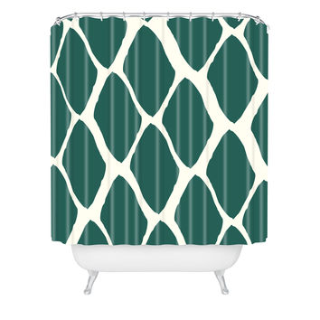Allyson Johnson Teal Dreams Shower Curtain