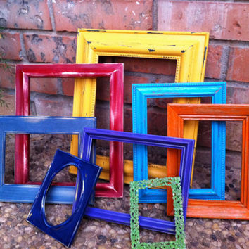 Vintage Frames Funky and Unique Home Decor Upcycled by FeFiFoFun